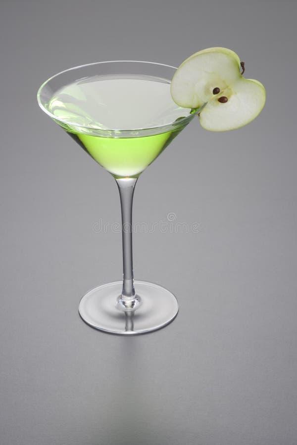 äpplecoctail martini royaltyfri bild