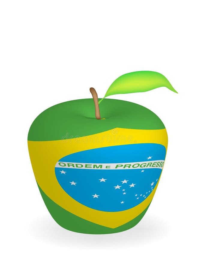 äppleflagga vektor illustrationer
