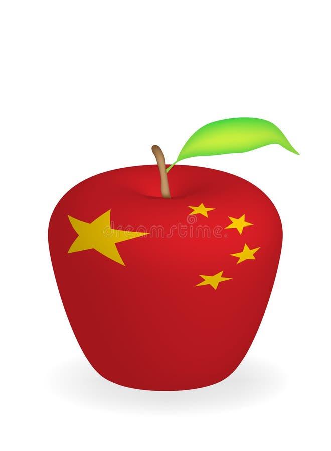 äppleflagga stock illustrationer