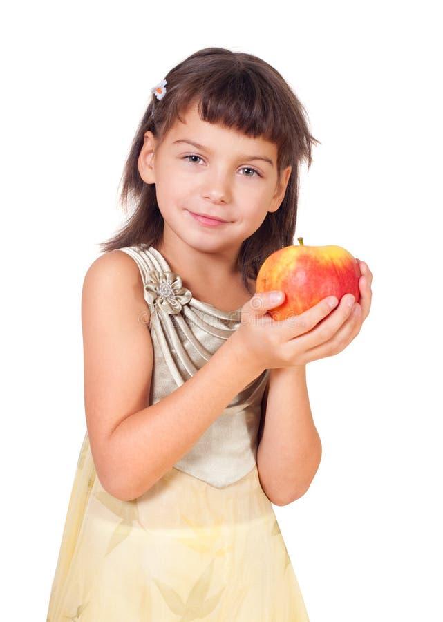 äppleflicka royaltyfri bild