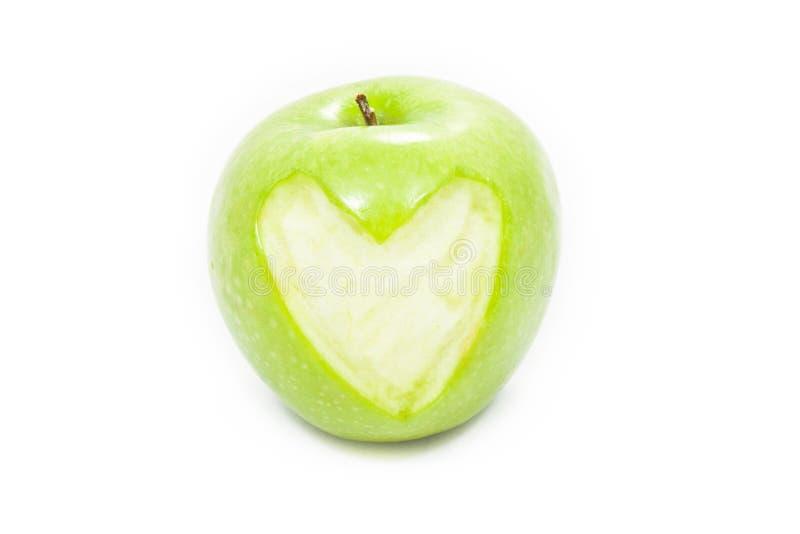 Download äpplehjärta arkivfoto. Bild av nytt, isolerat, banta - 19791442