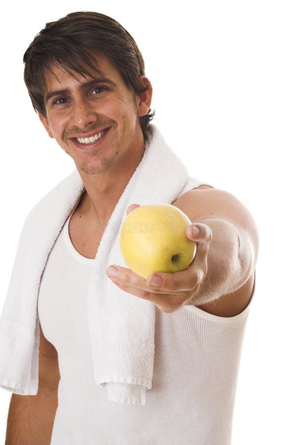 äppleholding arkivfoto