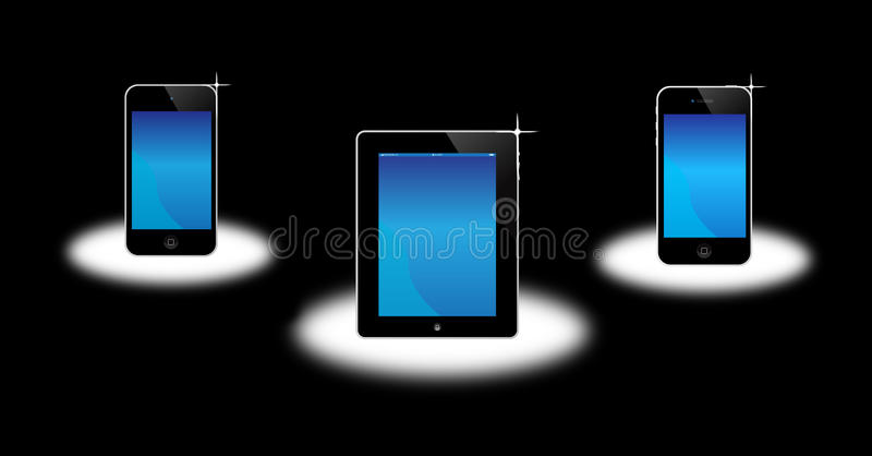 äppleipadiphone iPod royaltyfri illustrationer