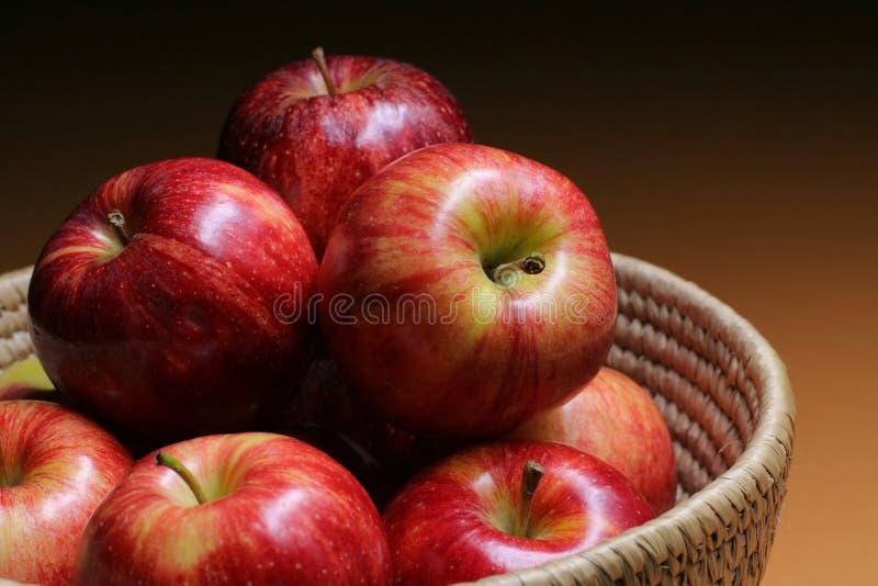 äpplekorg fotografering för bildbyråer