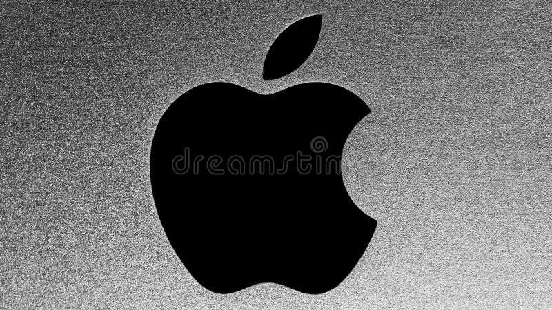 äpplelogo arkivbilder