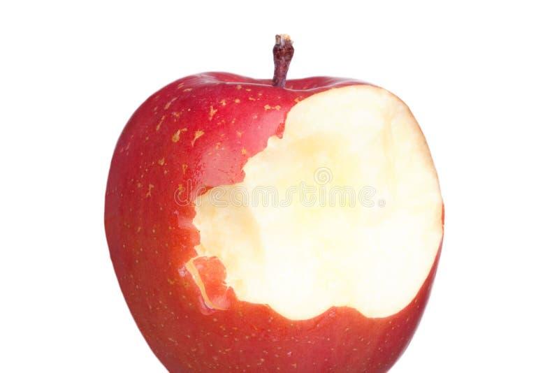 äpplen biter red royaltyfria bilder