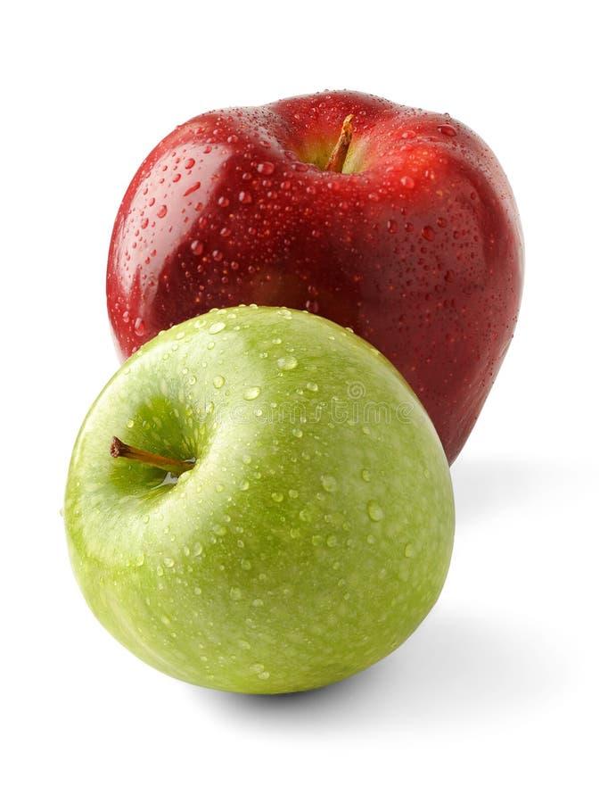 äpplen nya två royaltyfri bild