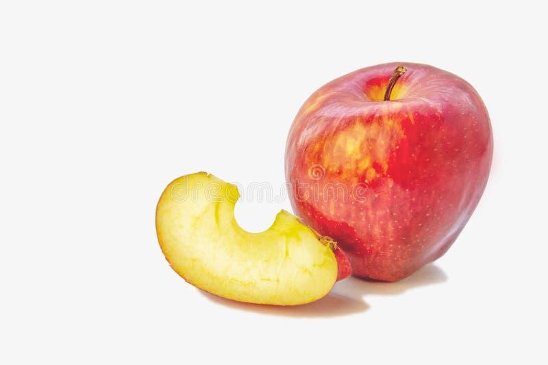 Äpplen på vitbakgrund royaltyfri fotografi