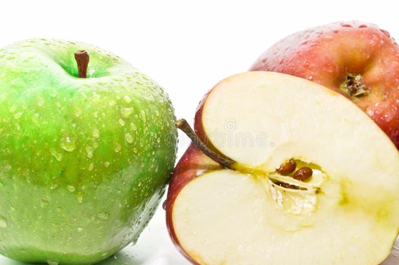 äpplen stänger nytt övre mycket arkivfoton