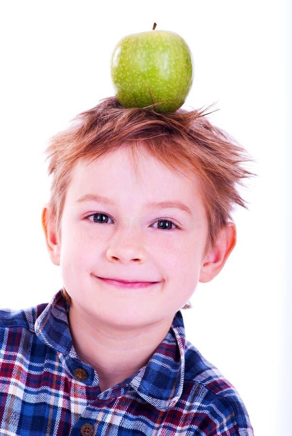 äpplepojke little arkivfoto