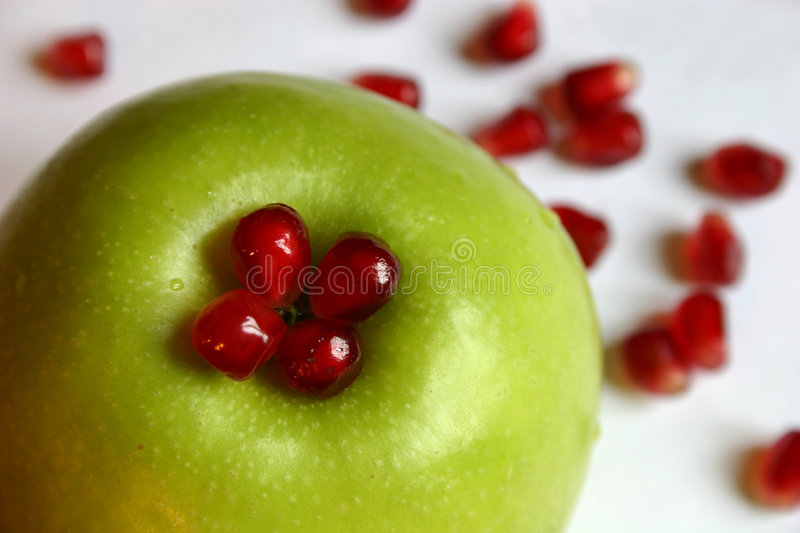 äpplepomegranate royaltyfria bilder