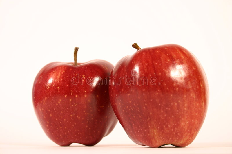 äpplered två arkivbilder