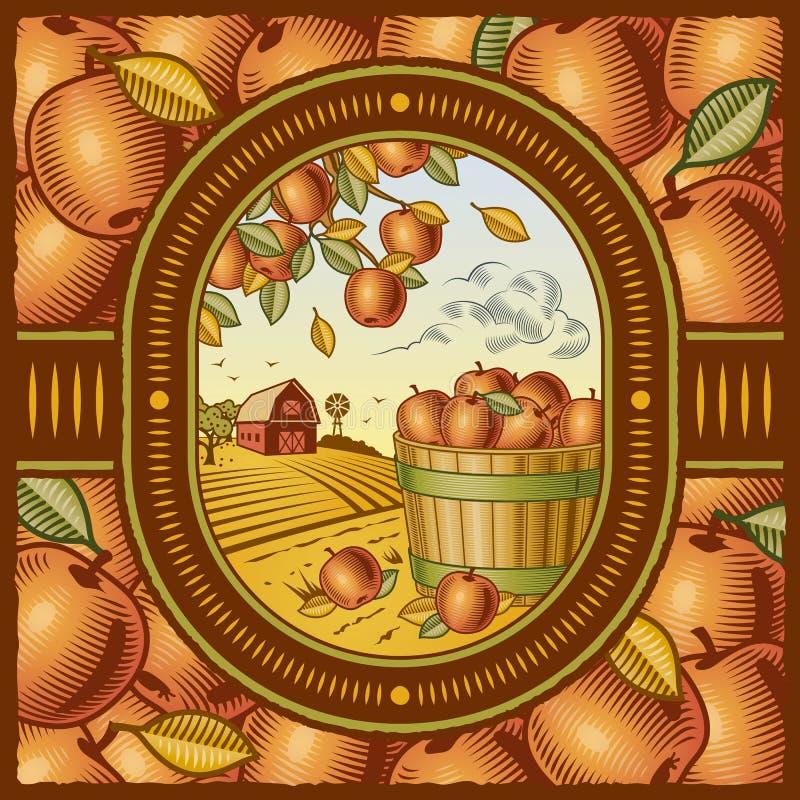 äppleskörd stock illustrationer