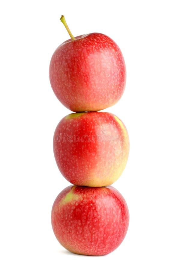 äpplestapel arkivbilder