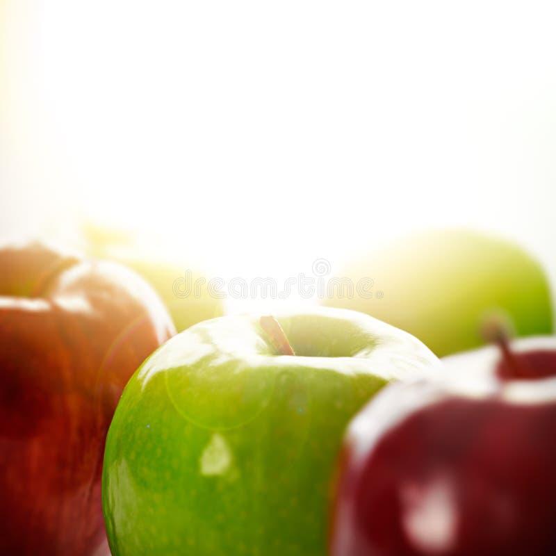 äpplesun arkivbild