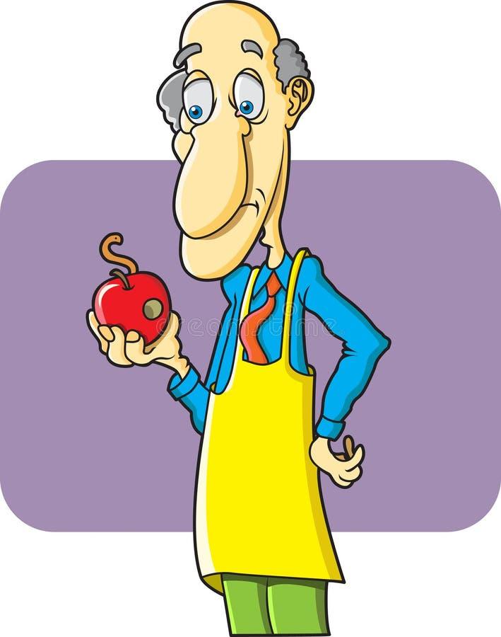 äpplet avmaskar stock illustrationer