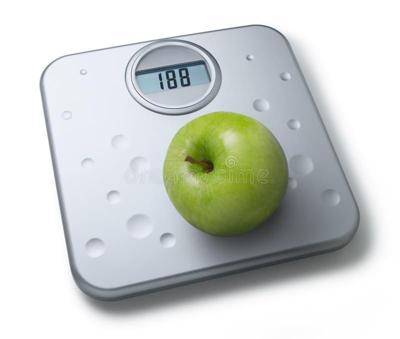 äpplet bantar sund scalesvikt royaltyfria foton