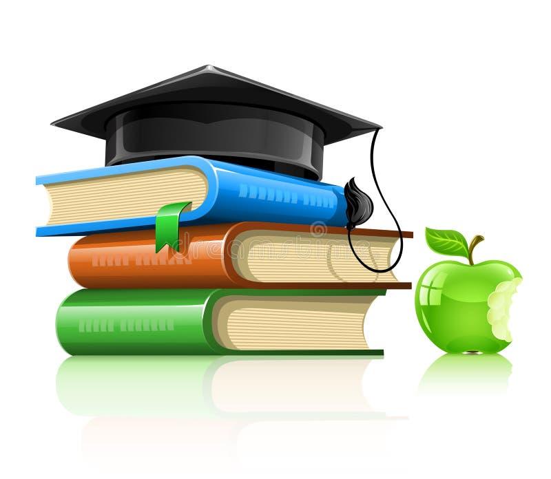 äpplet books skolan för lockstapelprofessorn stock illustrationer