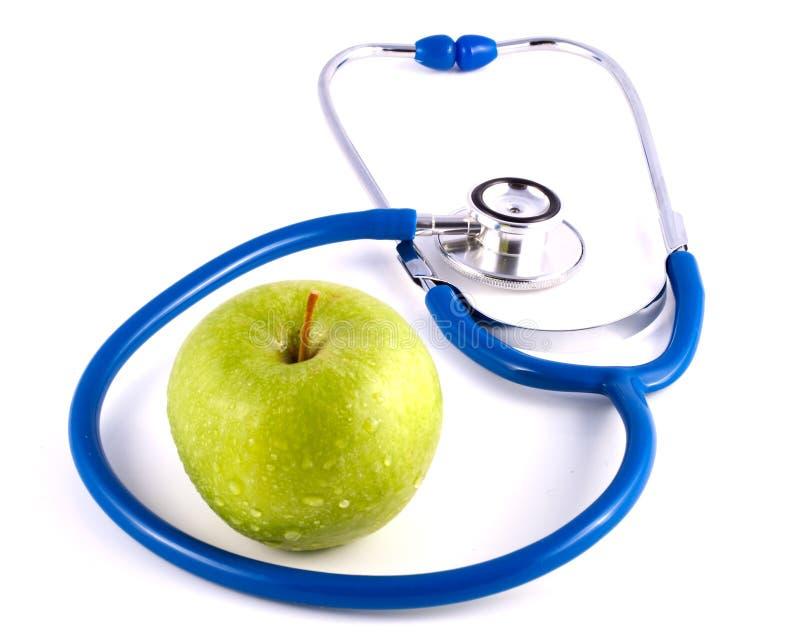 äpplet doctors stetoskopet arkivbilder