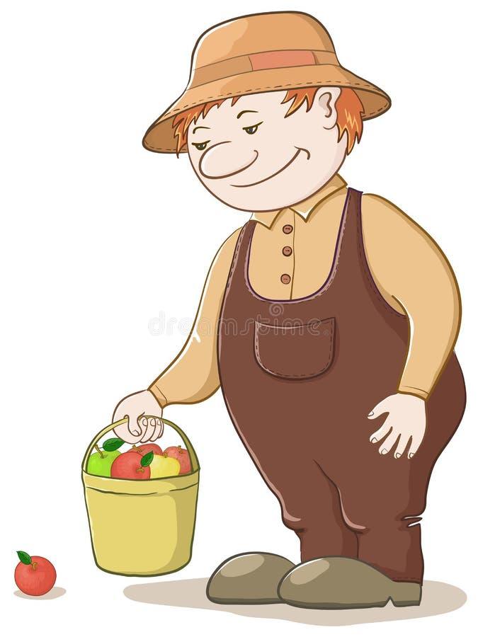 äppleträdgårdsmästare royaltyfri illustrationer