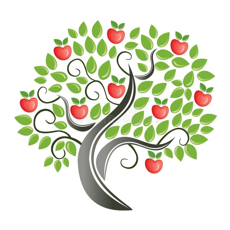 äppletree royaltyfri illustrationer