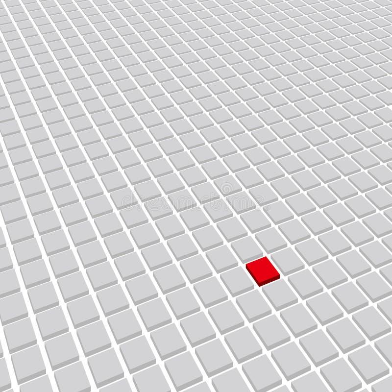 Är abstrakt teknologibakgrund för mosaiken, ett av dem röd royaltyfri illustrationer