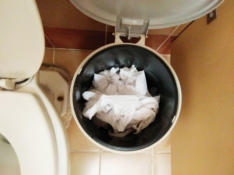 Är den släta toaletten för den bästa sikten det öppna locket royaltyfria bilder