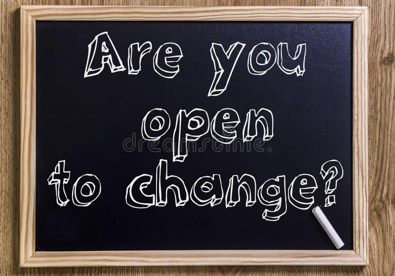 Är du öppen till ändring? royaltyfri foto
