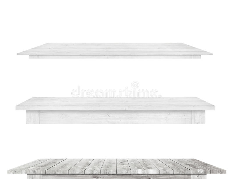 Är träköksbordblast för grå tappning isolerad vit bakgrund arkivfoto