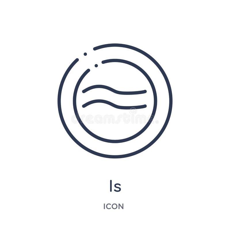 är ungefärligt jämbördigt till symbolen från former och symbolöversiktssamling Den tunna linjen är ungefärligt jämbördig till sym royaltyfri illustrationer