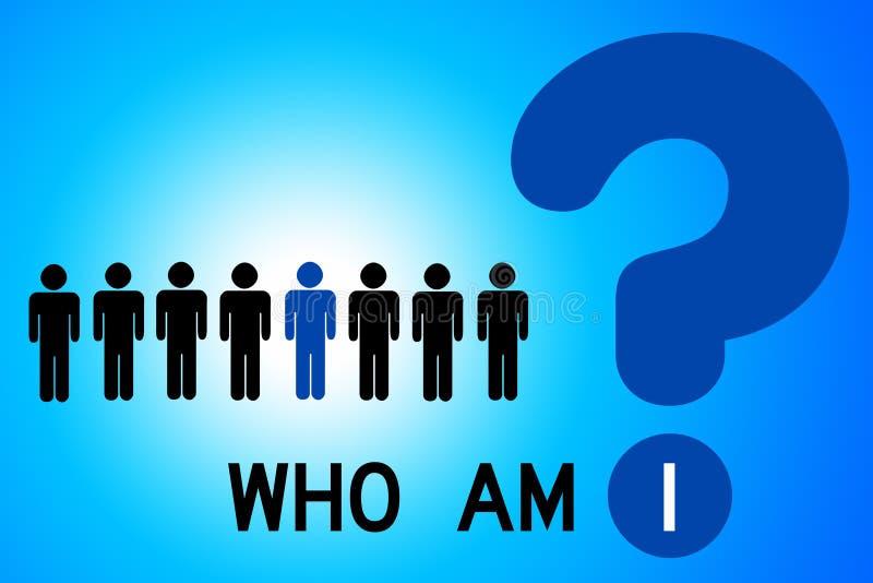Är vem mig? royaltyfri illustrationer