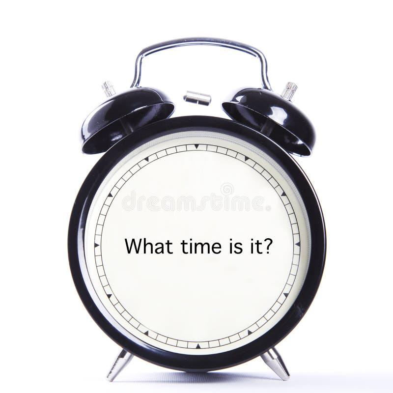 Är vilken tid det? arkivfoton