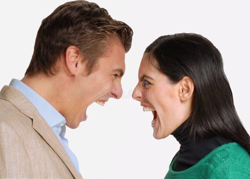 Ärgerpaare. lizenzfreie stockbilder