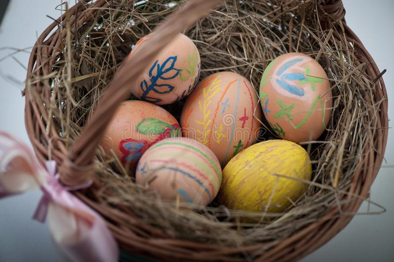 Ärgert selbst gemachtes Ostern stockbilder