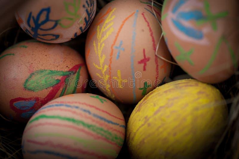 Ärgert selbst gemachtes Ostern lizenzfreies stockbild