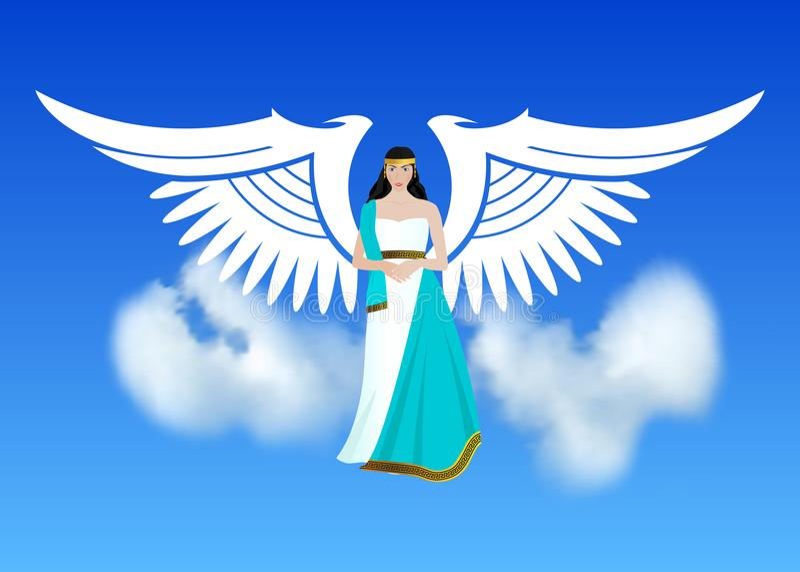 Ärkeängel Michael, en ängel eller ärkeängel med ett flammande svärd och att försvara jorden som rymmer planeten i hans händer vektor illustrationer