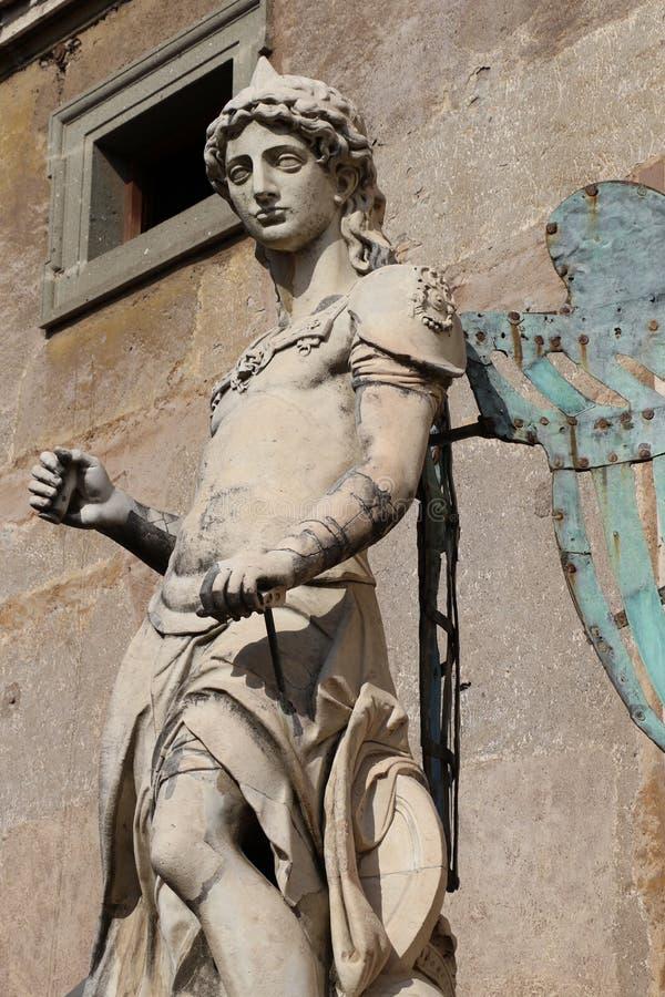 Download Ärkeängel Michael i Rome fotografering för bildbyråer. Bild av präst - 76704049
