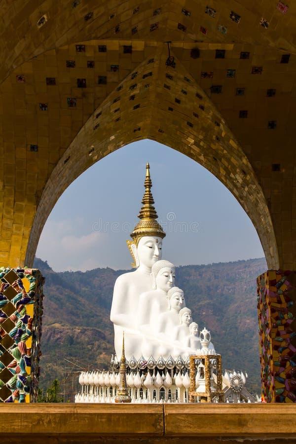 Ärke- Buddha för vit guld royaltyfri bild