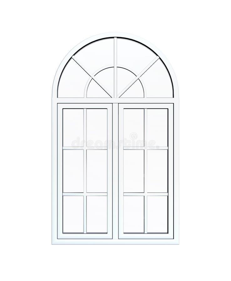 Ärke- fönster för vit royaltyfri illustrationer