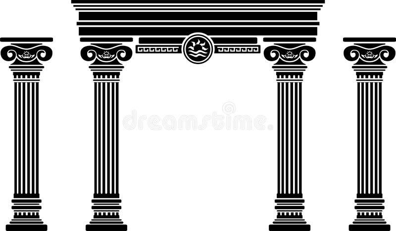 ärke- kolonnfantasi royaltyfria foton