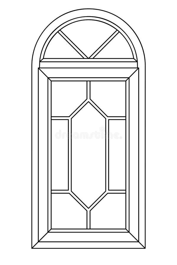 ärke- planimetric fönster 3 royaltyfria bilder