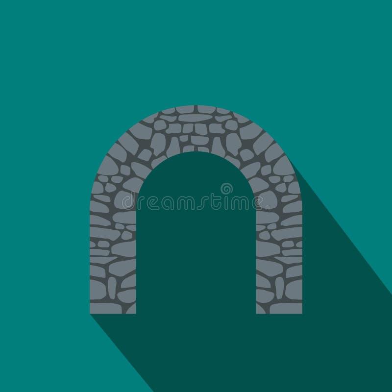 Ärke- symbol för sten, lägenhetstil royaltyfri illustrationer