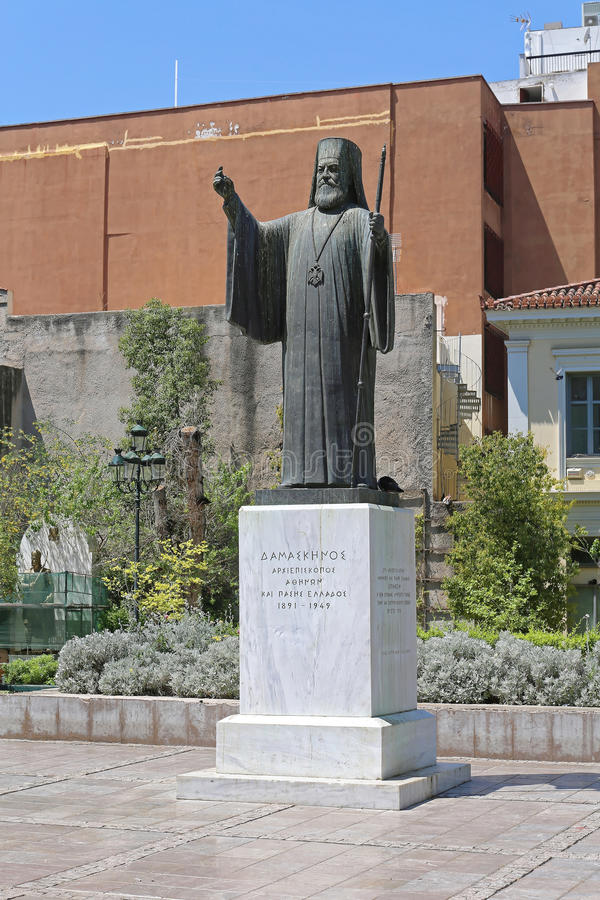 Ärkebiskop Damaskinos Athens royaltyfri bild