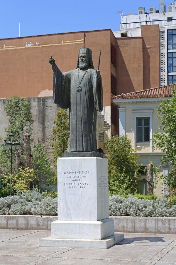 Ärkebiskop Damaskinos i Aten arkivbilder