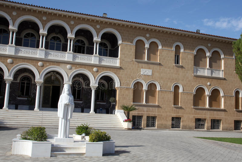Ärkebiskop Palace i Nicosia, Cypern royaltyfria bilder