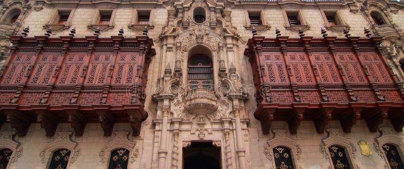 Ärkebiskop slott, Lima royaltyfria bilder