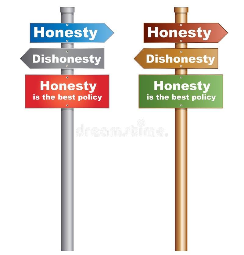 Ärlighet är den bästa politiken royaltyfri illustrationer