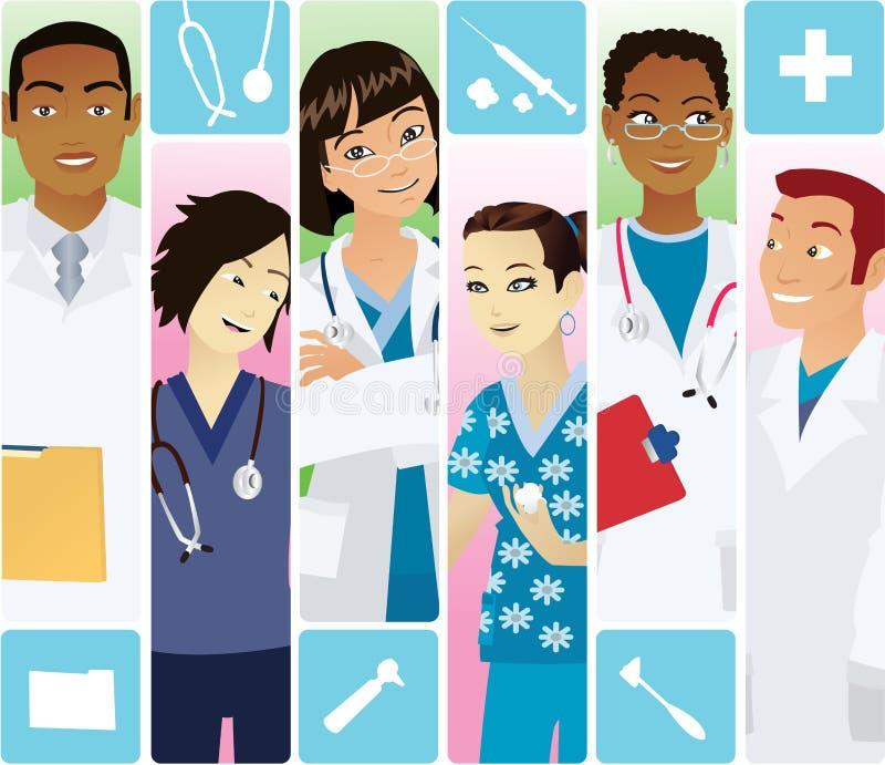Ärzteteam stock abbildung