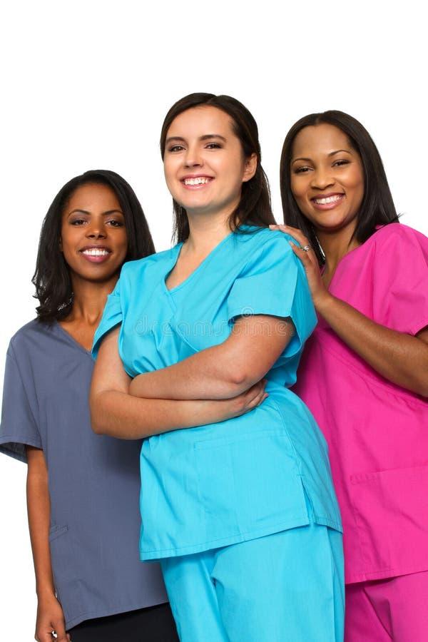 Ärzteteam von Frauen stockfotografie