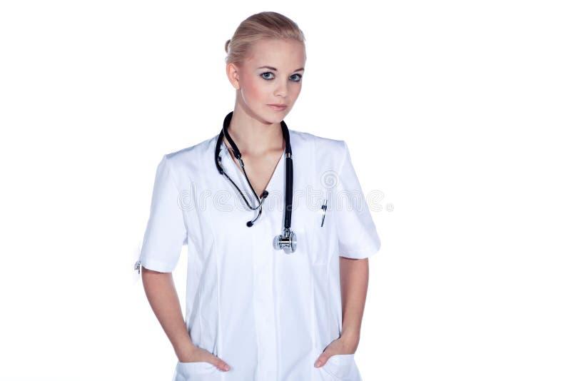 Ärztin mit Stethoskop stockbilder